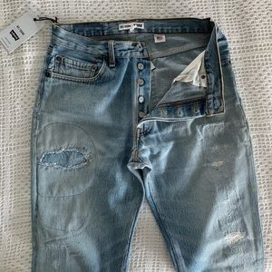 Re/Done destroyed trashed high rise jeans 1345